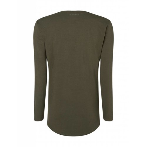 Purewhite Purewhite Basic t-shirt u neck longsleeve