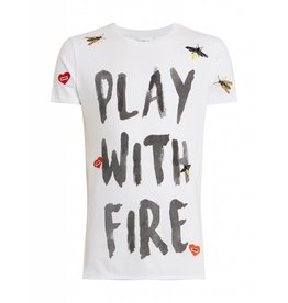Purewhite Purewhite Play With Fire T-shirt White