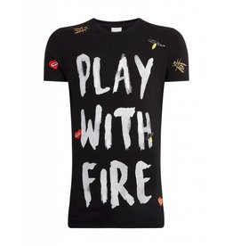 Purewhite Purewhite Play With Fire T-shirt Black