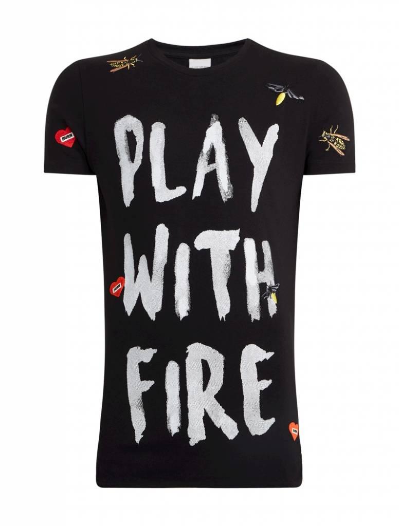 Purewhite Purewhite Play With Fire T-shirt Black
