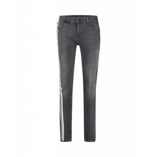Purewhite Purewhite Stripe Jeans Grey