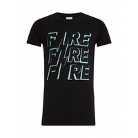 Purewhite Fire T-shirt Black
