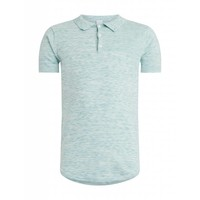 Purewhite Knitted Longfit Polo Light Green