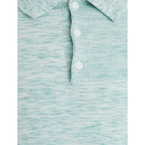 Purewhite Purewhite Knitted Longfit Polo Light Green