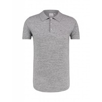 Purewhite Knitted Longfit Polo Grey