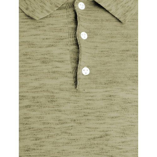 Purewhite Purewhite Knitted Longfit Polo Army Green