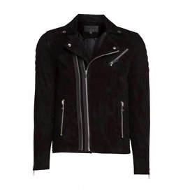 Purewhite Purewhite Suede Biker Jacket Black