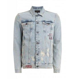 Purewhite Purewhite Distressed Denim Burn Jacket