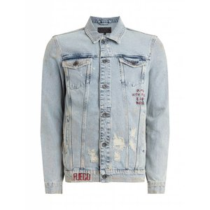 Purewhite Purewhite Distressed Denim Burn Jacket