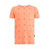 Purewhite Flame T-shirt Coral
