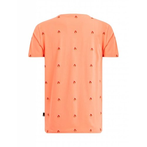 Purewhite Purewhite Flame T-shirt Coral