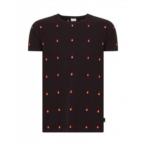 Purewhite Purewhite Flame T-shirt Black