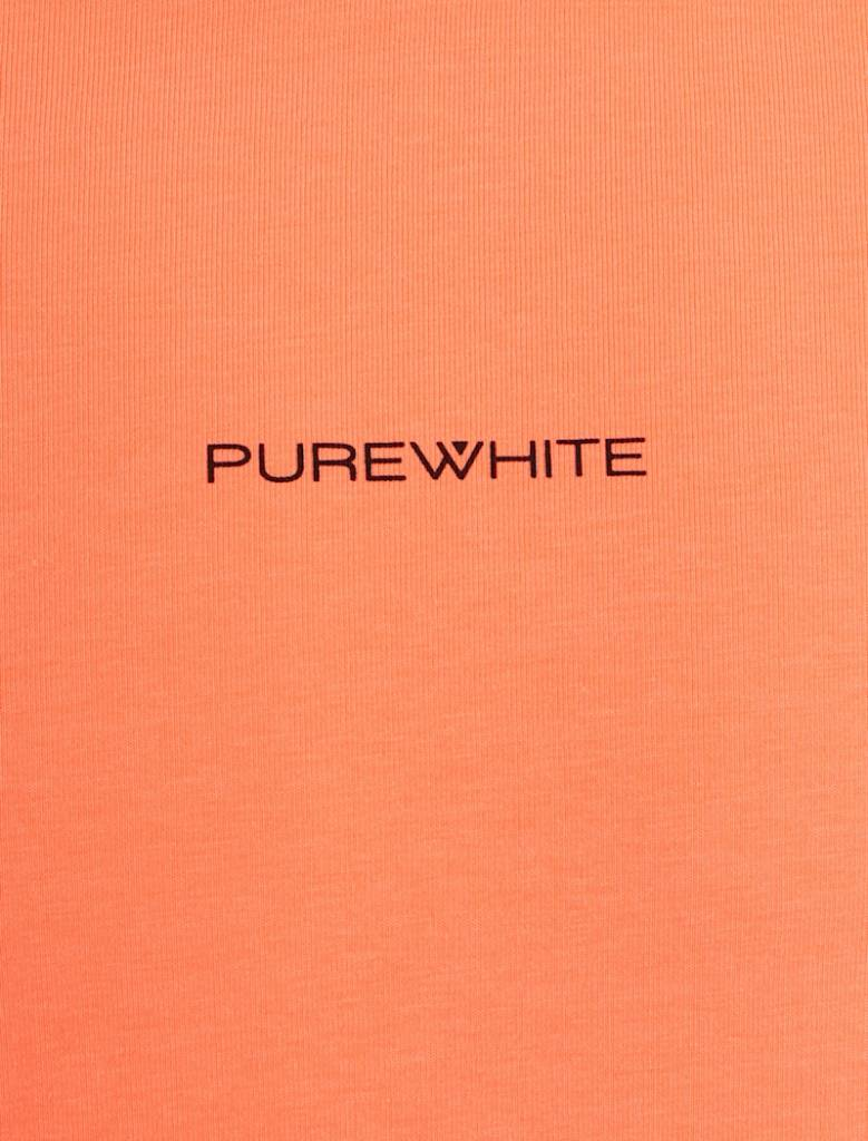 Purewhite Purewhite Logo Tee Coral