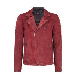 Purewhite Purewhite Suede Jacket Red
