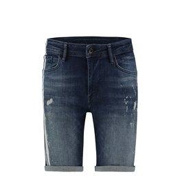Purewhite Purewhite Jeans Short Stripes and Bleach Spots