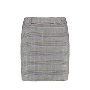 Purewhite Check Print Skirt Grey