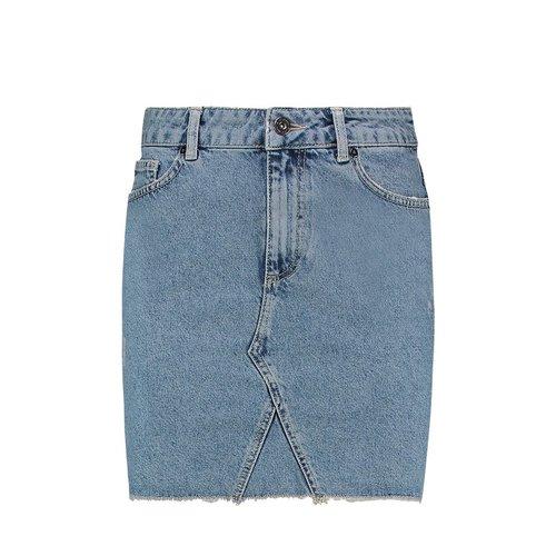 Purewhite Denim Skirt Blue