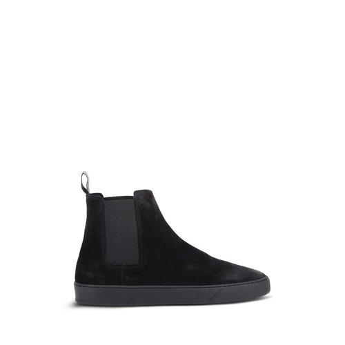 Purewhite Suede Chelsea Sneaker Black