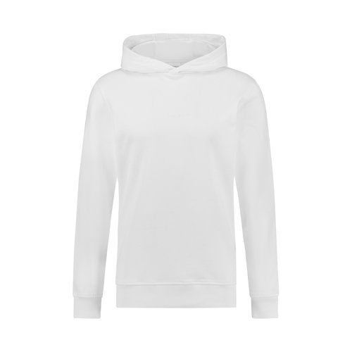 Purewhite logo embroidery hoodie