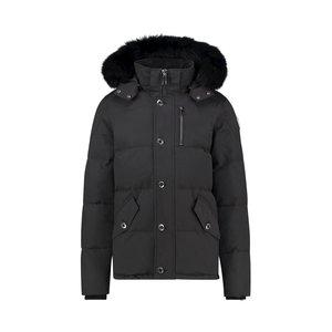 Purewhite Premium Jacket Black Fur