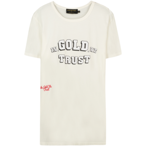 In Gold We Trust FROND LOGO WHITE BLACK OUTLINE TEE