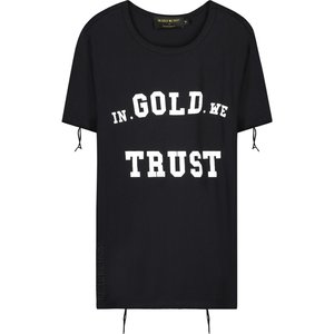 In Gold We Trust DESTROYED BIG PRINT FRONT TEE