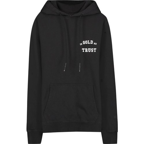 In Gold We Trust Garment Dye Hoodie Black