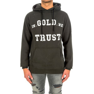 In Gold We Trust Hoodie Washed Fade Green