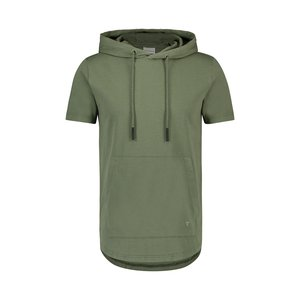 Purewhite HOODED T-SHIRT ARMY GREEN
