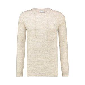 Purewhite Knitted Melange Crewneck Sand