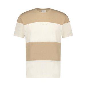 Purewhite REVERSED LOGO PANEL T-SHIRT SAND WHITE