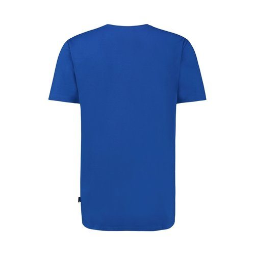 Purewhite WAVE LOGO T-SHIRT BLUE