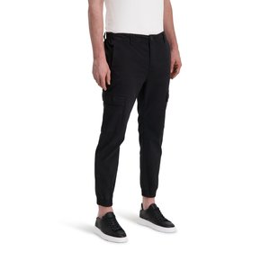 Purewhite CARGO PANTS BLACK