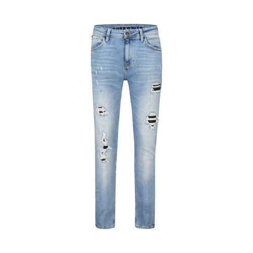 Purewhite Purewhite The Jone 437 Damaged blue jeans