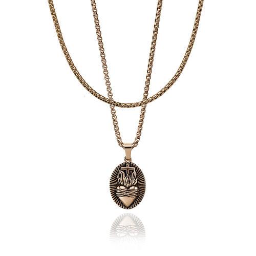 CROYEZ Sacred Heart pendant rope chain