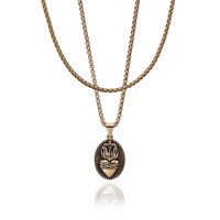 Sacred Heart pendant with Round Boxchain