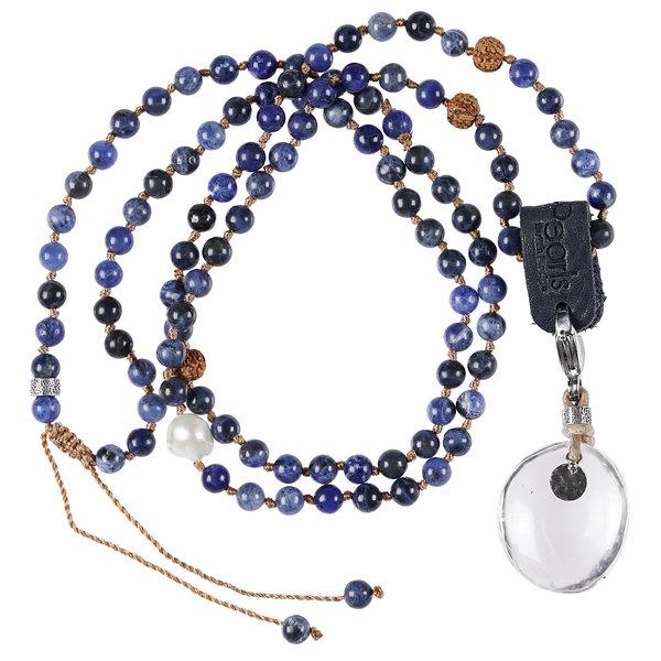 PimpsandPearls Mala Necklace Sodalite &Charm Bergkristal