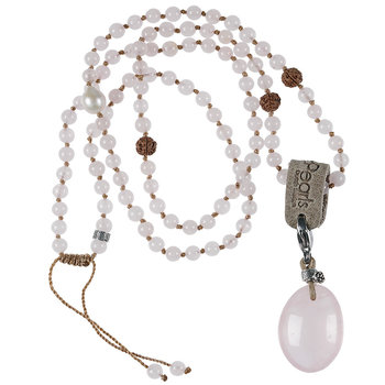 PimpsandPearls Mala Necklace Rose Quartz&Charm Rose Quartz
