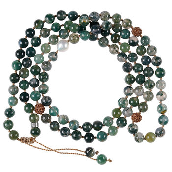 PimpsandPearls Mala Necklace Moss Agate