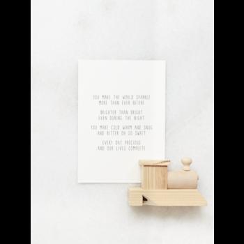 Gewoon JIP. Kaart met envelop, You make the world sparkle