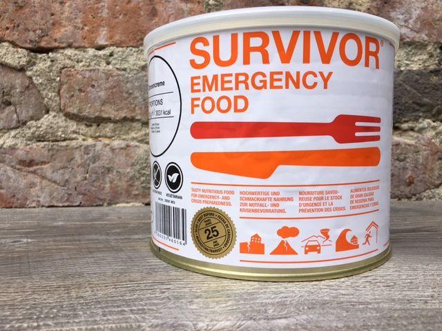 Survivor outdoor food Survivor Outdoor Food citroen creme in blik