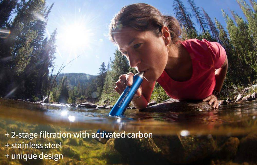 Lifestraw LifeStraw Steel waterfilter met actieve kool