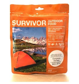 Survivor Outdoor Food Kip curry met rijst