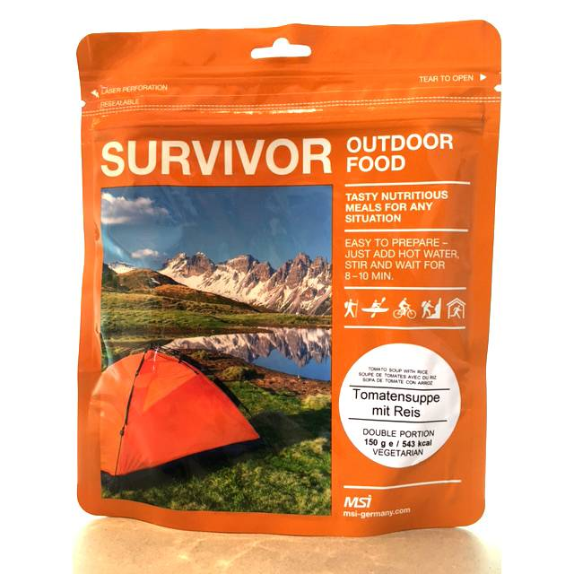 Survivor outdoor food Survivor Outdoor Food Tomatensoep met rijst