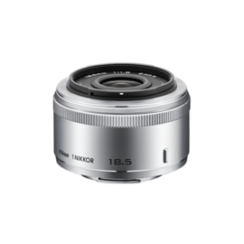 Nikon 1 NIKKOR 18.5MM F/1.8 zilver (Demo, niet gebruikt)
