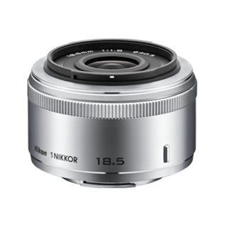 Nikon  1 NIKKOR 18.5MM F/1.8 zilver (jnclusief 12 maanden garantie)