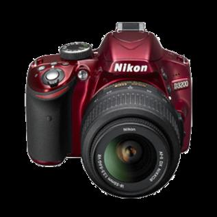 Nikon Nikon D3200 red + AF-S 18-55 VR II Demo (inclusief 12 maanden garantie)