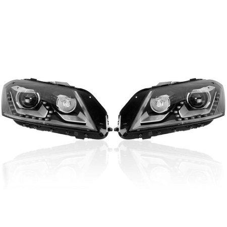 Bi-Xenon-Scheinwerfer-Set LED TFL für VW Passat B7 - ohne elektr. Dämpferregelung / Front