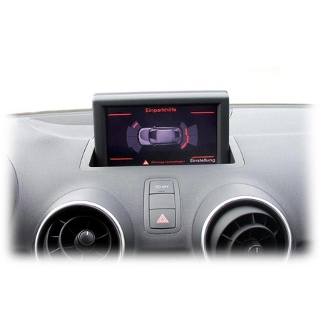 Komplett-Set Einparkhilfe plus - Front & Heck für Audi A1 8X - Mit RDK / Ohne Sitzheizung