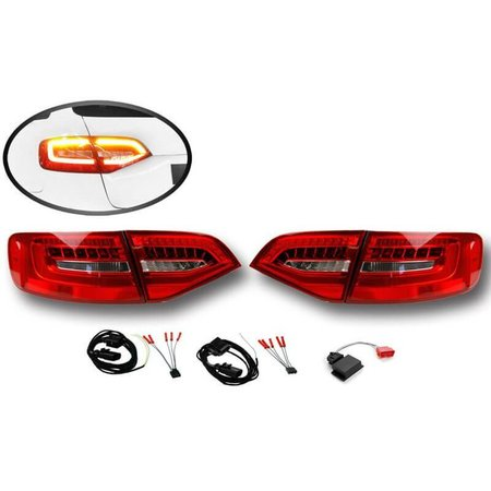 Komplett-Set LED Heckleuchten für Audi A4/S4 Avant Facelift - Standard auf LED facelift